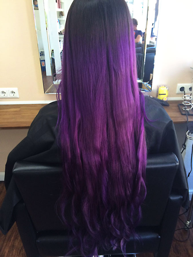 Haare Mittellang Lila Mittellange Haare